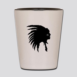 Native American Silhouette Shot Glass