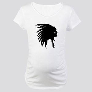 Native American Silhouette Maternity T-Shirt