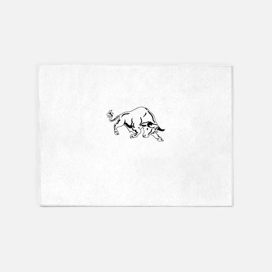 Charging Bull 5'x7'Area Rug
