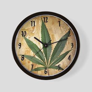 Kush Leaf Wall Clock