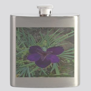 Pi 004 Blue Lilly Flask