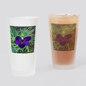 Pi 004 Blue Lilly Drinking Glass