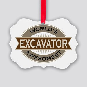 Excavator (Awesome) Picture Ornament