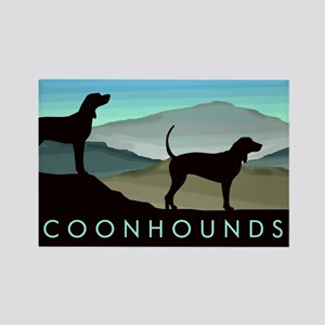 Blue Hills Coonhounds Rectangle Magnet