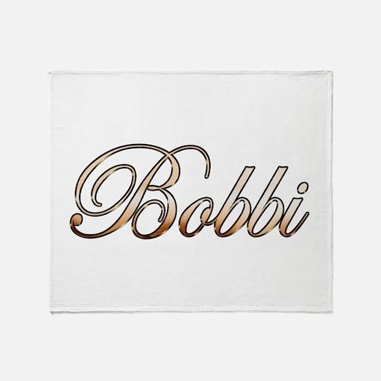 Gold Bobbi Throw Blanket