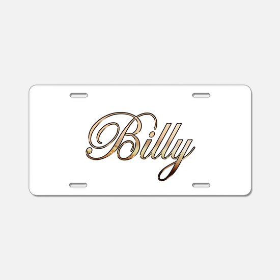 Gold Billy Aluminum License Plate