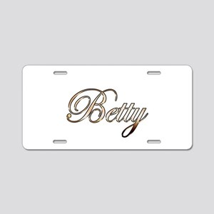 Gold Betty Aluminum License Plate