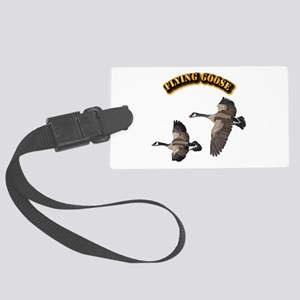 Flying Goose-w text Large Luggage Tag