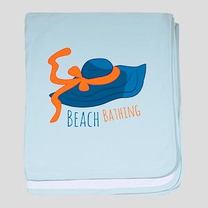 Beach Bathing baby blanket