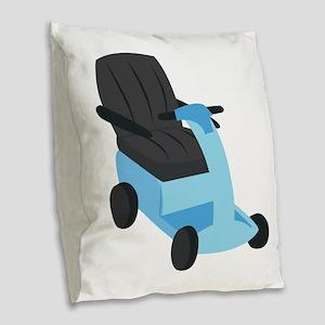 Scooter Burlap Throw Pillow
