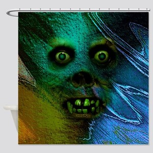 Ghastly Ghoul Shower Curtain