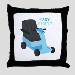 Easy Riding Throw Pillow