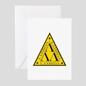 Lambda Lambda Lambda Greeting Cards (Pk of 10)