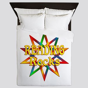 Reading Rocks Queen Duvet