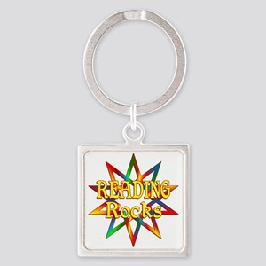 Reading Rocks Square Keychain