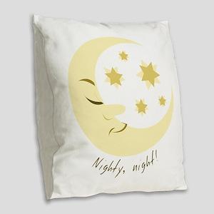 Nighty Night Burlap Throw Pillow