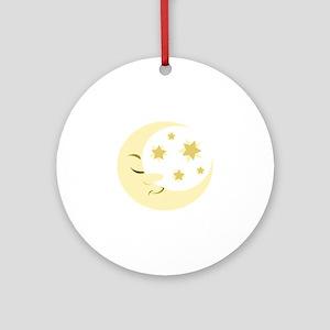 Night Moon Ornament (Round)