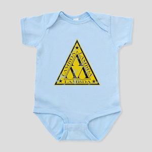 Worn Lambda Lambda Lambda Infant Bodysuit