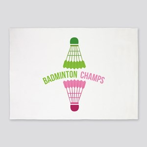 Badminton Champs 5'x7'Area Rug
