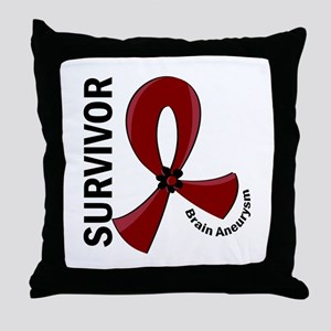 Brain Aneurysm Survivor 12 Throw Pillow