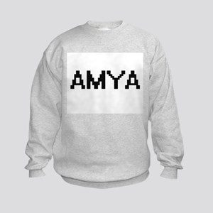 Amya Digital Name Kids Sweatshirt