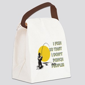 I FISH SO THAT Canvas Lunch Bag