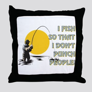 I FISH SO THAT Throw Pillow