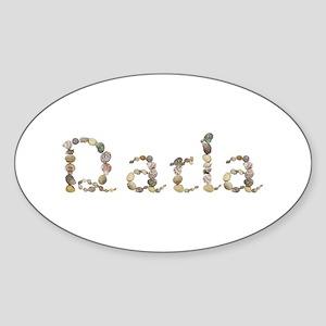 Darla Seashells Oval Sticker