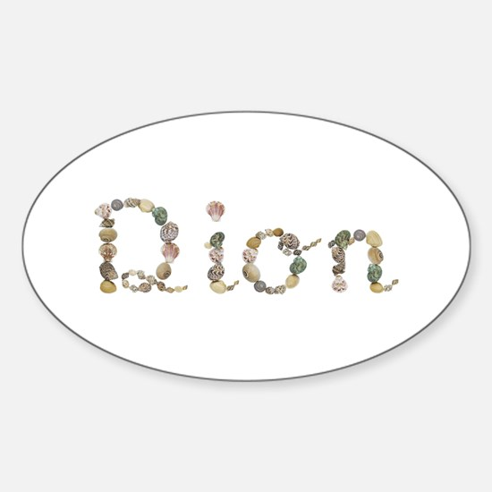 Dion Seashells Oval Decal