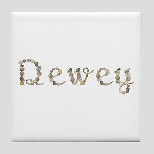 Dewey Seashells Tile Coaster