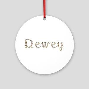 Dewey Seashells Round Ornament