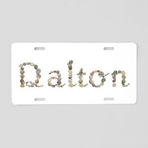 Dalton Seashells Aluminum License Plate