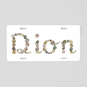Dion Seashells Aluminum License Plate