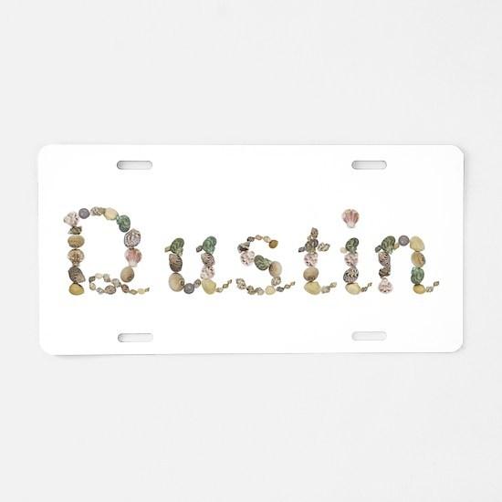 Dustin Seashells Aluminum License Plate