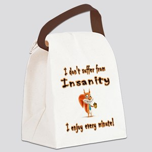 I don't suffer squirrel Canvas Lunch Bag