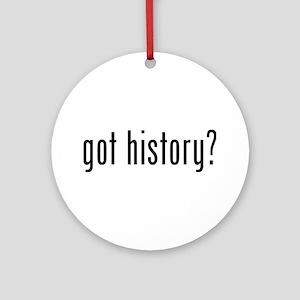 got history? Ornament (Round)