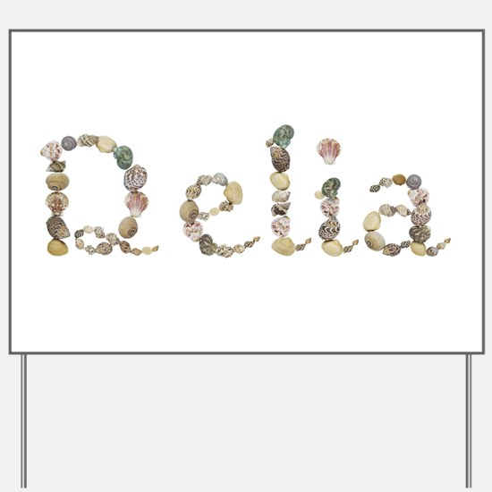 Delia Seashells Yard Sign