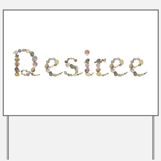Desiree Seashells Yard Sign
