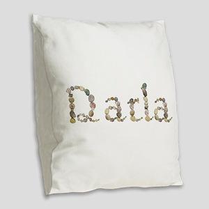 Darla Seashells Burlap Throw Pillow