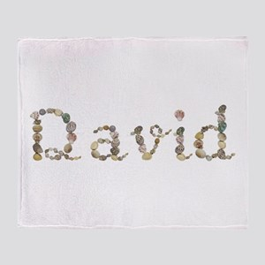 David Seashells Throw Blanket