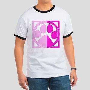 Pink Paw Print Ringer T