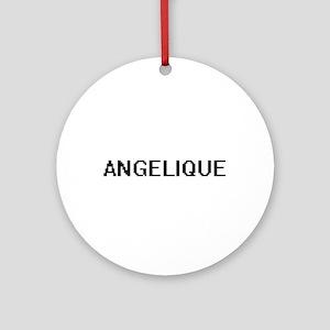 Angelique Digital Name Ornament (Round)