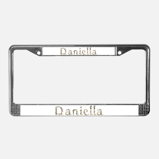 Daniella Seashells License Plate Frame
