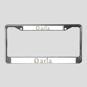 Darla Seashells License Plate Frame