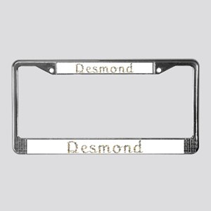 Desmond Seashells License Plate Frame