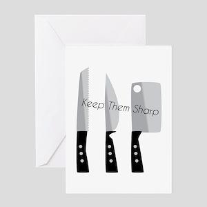 Keep Them Sharp Greeting Cards