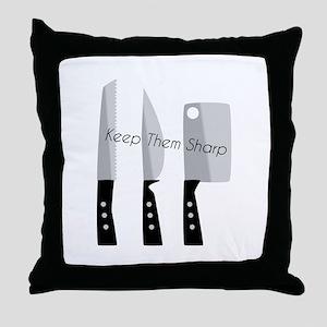 Keep Them Sharp Throw Pillow
