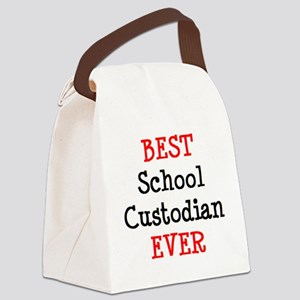 best school custodian ever Canvas Lunch Bag