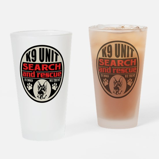 K9 Unit Search and Rescue Drinking Glass
