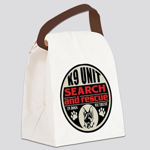 K9 Unit Search and Rescue Canvas Lunch Bag